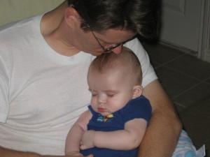 Asleep in Daddy\'s Arms...