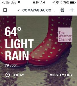 Rainy Day at Soto Cano